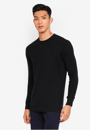 Sisley grey Round Neck Knit Sweater 74E46AA89C8A4BGS_1