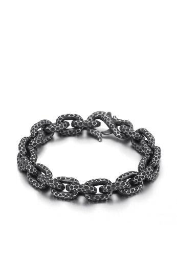 HAPPY FRIDAYS Wave Spot Titanium Steel Bracelet KL137021 19C93AC47E754FGS_1