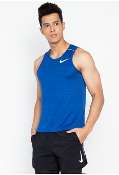 aec486467eb1f Nike blue Nike Dri-Fit Miler Men s Running Tank AFED2AA27017E9GS 1