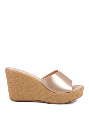 CLARETTE gold Clarette Wedges Crystaline Gold CL076SH03QHWID_1