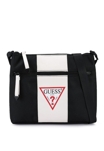 Guess black and white Central Sacoche Crossbody Bag A481AACE170A61GS_1