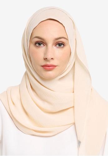 UMMA white Sulam Sumera Scarf in Cream 3574BAA9C0B9A9GS_1