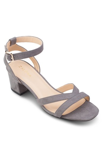 踝帶粗跟涼鞋、 女鞋、 中跟ZALORA踝帶粗跟涼鞋最新折價