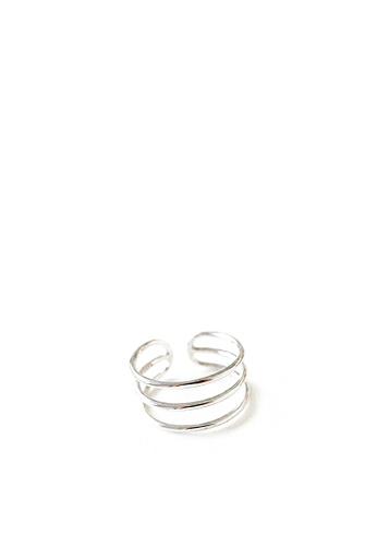 HAPPY FRIDAYS 925純銀雙層鏤空光面戒指 AR-YDR736 2AE65ACF1DD24AGS_1