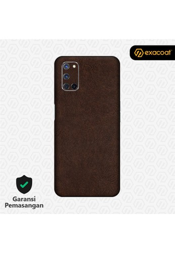 Exacoat Oppo A52 / A92 3M Skins Leather Series - Leather Brown 2833EESA20D662GS_1