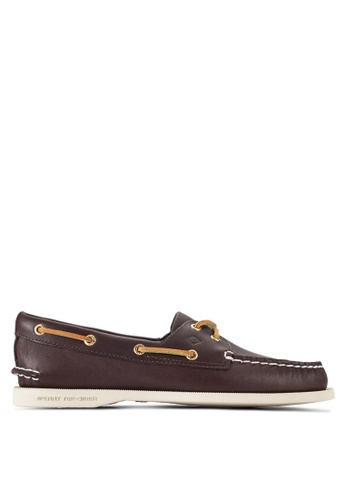 Sperry brown Authentic Originals Brown Boat Shoes SP132SH26BQJMY_1