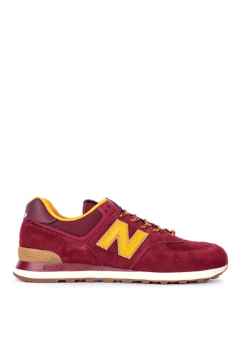 New Balance red 574 Outdoor Lifestyle Shoes DAE1FSH401B9E6GS_1