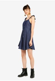 76b6dcf59445 38% OFF Something Borrowed Ruffles Strap Button Down Dress S$ 39.90 NOW S$  24.90 Sizes XS S M L XL