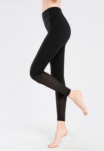 B-Code black ZYG3088-Lady Quick Drying Running Fitness Yoga Sports Leggings -Black F42B8AA2C186F2GS_1