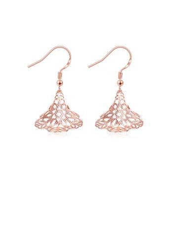 Glamorousky silver Plated Rose Gold Flower Earrings 7F331AC27CD649GS_1