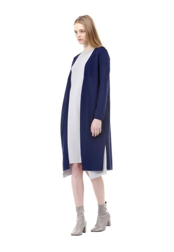 VOV(Voice of Voices) navy Navy Embroidered Long Cardigans 1C763AA14F97D5GS_1
