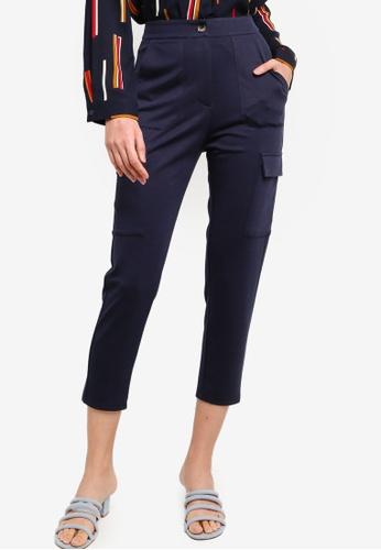 ZALORA BASICS 海軍藍色 口袋褲 0A278AAAAF9F73GS_1