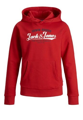 Jack & Jones red Logo Sweat Hoodie C8A92KA9545381GS_1