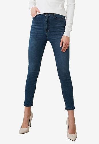 Trendyol blue High Waist Skinny Jeans DA496AAF29C993GS_1