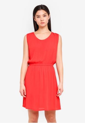 ICHI red Marrakech Dress 0CD7AAADAE16F0GS_1