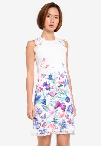 Lipsy multi Digital Print Chiffon Asymmetric Dress 43FF7AA6C7FB4BGS_1