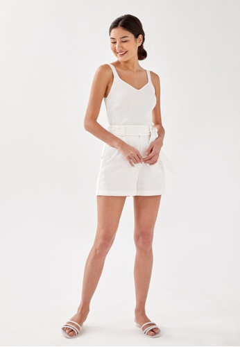 Love, Bonito white Maelyn Knit Camisole Top 359A7AA2614D04GS_1