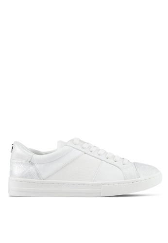 Dune London white Signature Lace Up Sneakers 8F40FSH5CBA2A9GS_1