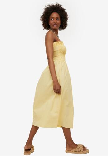 H&M yellow Smock-Topped Dress BBC0EAAE708E65GS_1