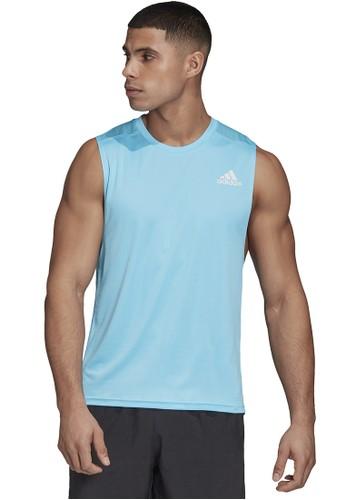 ADIDAS blue own the run sleeveless tee m D3BFFAAEB380A0GS_1
