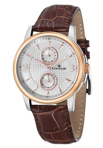 Thomas Earnshaw brown Thomas Earnshaw FLINDERS MULTIFUNCTION ES-8026-04 Men's Brown Genuine Leather Strap Watch FD82EACC0D701FGS_1