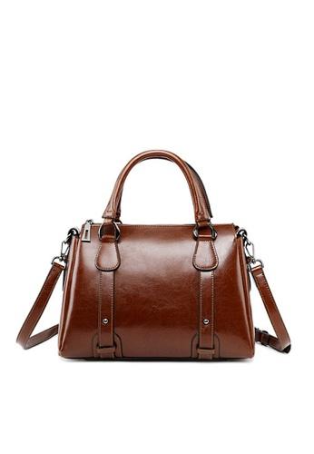 Twenty Eight Shoes brown VANSA Vintage Burnished Leather Hand Bag VBW-Hb2833 E0475AC6AD2563GS_1