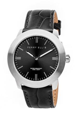 PERRY ELLIS black Perry Ellis Slim Line Unisex 42mm Quartz Watch 07002-01 90C21AC0175C44GS_1