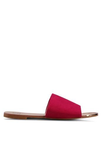 Carlton London pink Suede Sliders 373CBSHCAFDEB2GS_1