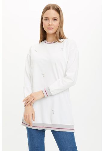 DeFacto beige Woman Long Sleeve Knitted Tunic DEB2CAAA85239EGS_1