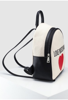 b7c8159ded83 Love Moschino Canvas Zip Around Backpack S  269.00. Sizes One Size