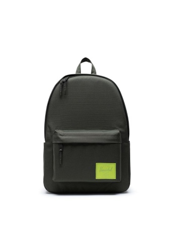great look new lower prices on sale Herschel Classic XL Backpack Dark Olive/Lime Green - 30L