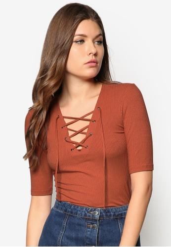 Tie-zalora時尚購物網的koumi koumiFront Top, 服飾, 上衣