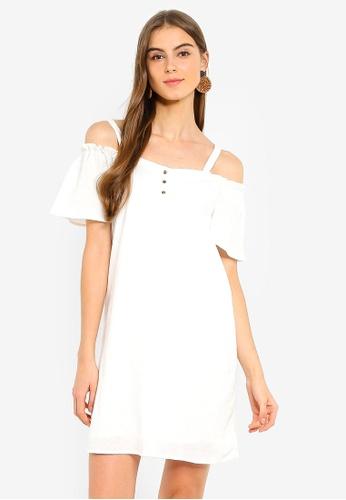 a90ab2f215953b Buy Vero Moda Sandra Cold Shoulder Short Dress Online on ZALORA Singapore