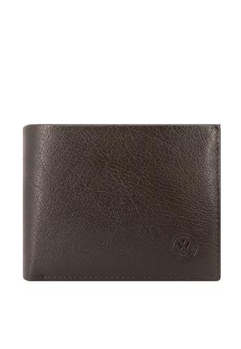 Volkswagen brown Volkswagen Genuine Leather Wallet 8DD9EAC5AA68A2GS_1