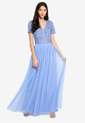 Angeleye blue Embellished Maxi Dress 95416AA55BCD22GS_1