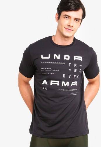 Under Armour black UA TRN DVSN Short Sleeve Tee C2F27AAFDA163FGS_1