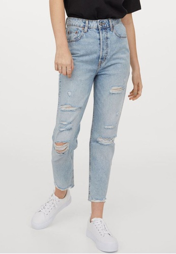 H&M blue Slim Mom High Ankle Jeans A98F9AA5718FC8GS_1