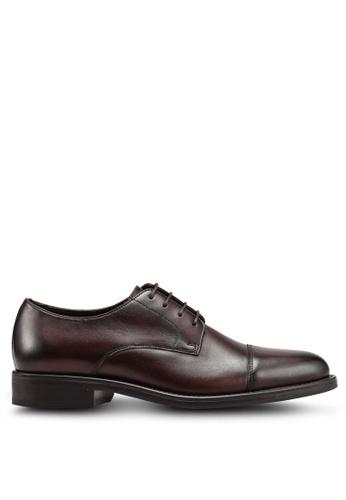MANGO Man brown Leather Blucher Shoes 3C50FSH79071CCGS_1