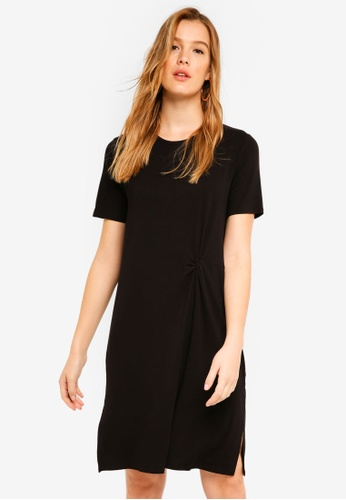 ICHI black Dion Dress 8AC64AAEA3E547GS_1