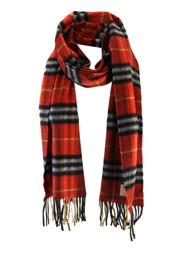 Burberry red and orange Classic Check Scarf (oc) 010B9AC900447DGS_1