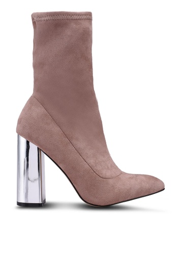 Public Desire brown Wayward Boots 01C85SH953A9DDGS_1