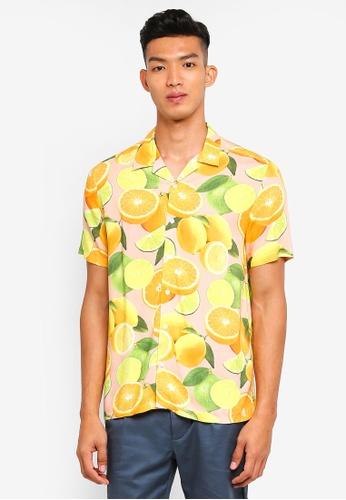 Topman pink Pink Lemon Short Sleeve Shirt AA1C0AA7373502GS_1