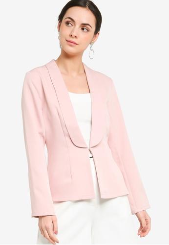 ZALORA WORK pink Lapel Blazer BE311AA0D2CC5BGS_1