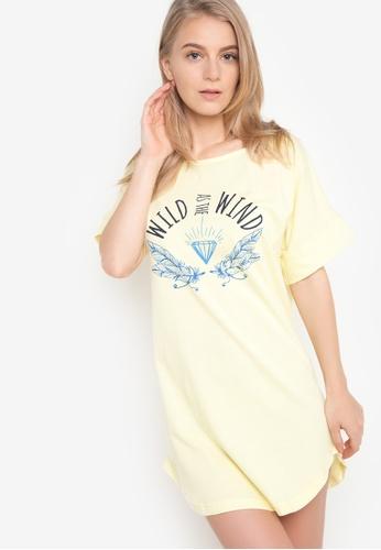 Verve Street yellow Pony Sleep Shirt VE915AA55CKMPH_1