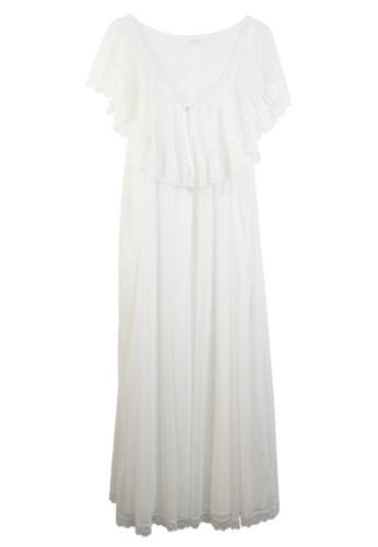 ZITIQUE white Princess Lace Sleepwear With Sleeves-White 7B74AUS9894C54GS_1