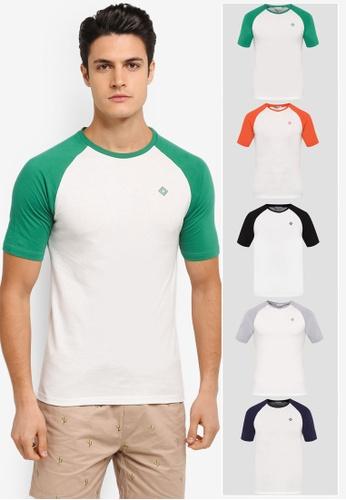 JAXON white and orange and multi 5 Pack Short Sleeves Raglan Logo Tee JA219AA0T288MY_1