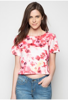 Floral Print Cropped Top