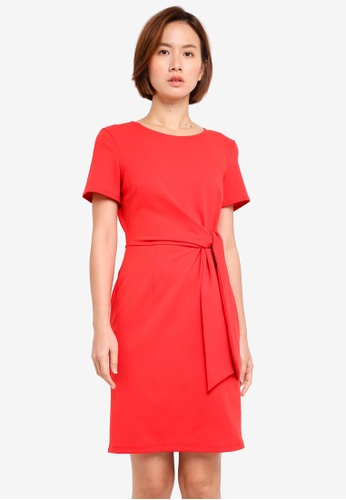 Dorothy Perkins red Tie Front Dress 21BB1AA9FAB51BGS_1