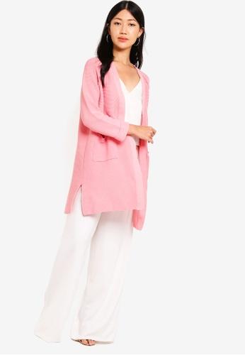 6821695d3b Buy ZALORA Longline Knit Cardigan Online on ZALORA Singapore