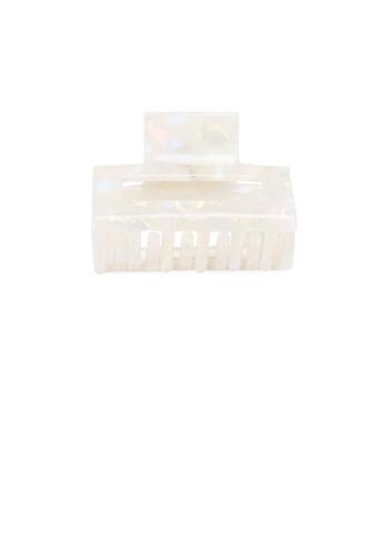 Glamorousky white Simple Fashion White Pattern Geometric Hair Claw 38D22ACC37F0C3GS_1